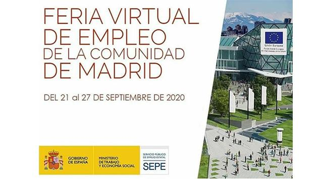 Cartel I Feria Virtual de Empleo Comunidad de Madrid