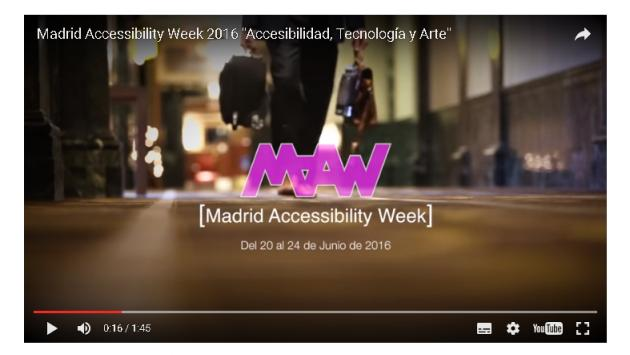 Fotograma del video promocional de la Madrid Accesibility Week