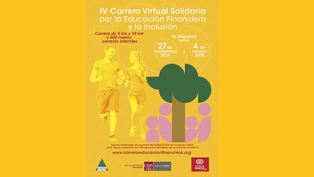 Cartel de la IV Carrera Virtual Solidaria